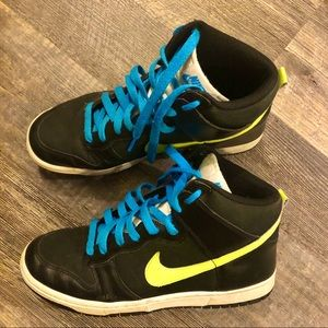 Cloud & neon yellow Nike Air Force ladies 9
